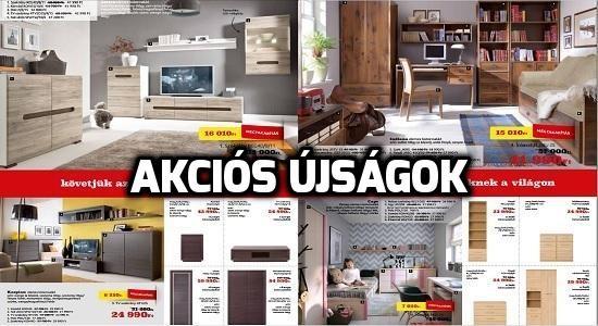 akciós újságok, bútorok