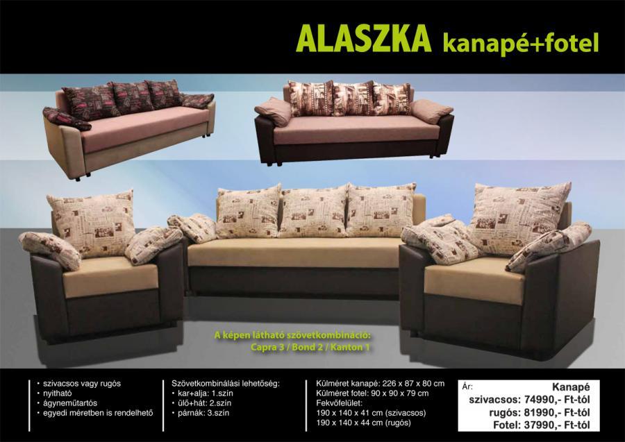 Alaszka kanapé és fotel - Otthon Bútor Áruház