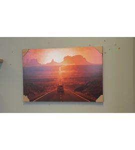 Falikép - naplemente