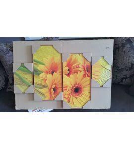 Falikép többrészes - virág