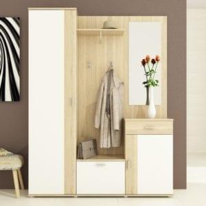 Amalia komplett előszoba, sonoma tölgy / fehér színben