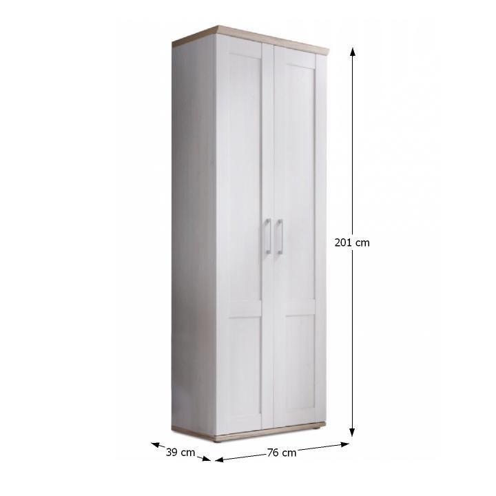 Provensal előszoba szekrény fehér / san remo tölgy