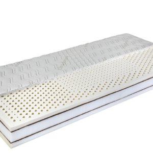 Fitness Natural – zónásított latex matrac kókusz merevítéssel