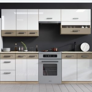 Kamala 240 konyhasor - Fényes fehér / Cappucino